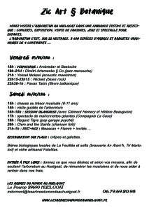 Affiche Zike Art et Botanique 3 FLYER recto 2 SANS LOGO