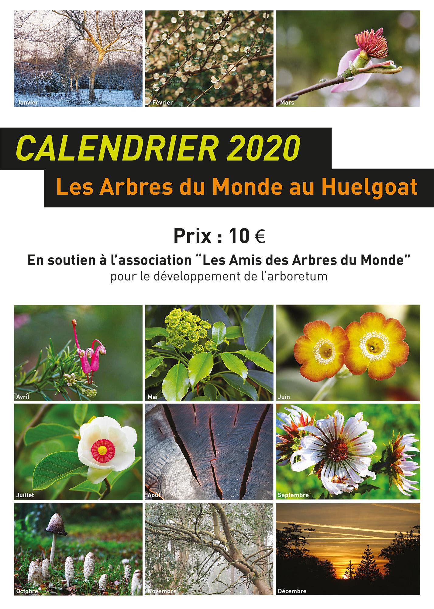 Achat Calendrier 2020.Les Calendriers 2020 Sont Disponibles Les Arbres Du